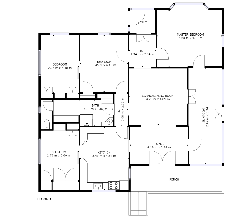 398 North Isis Rd new floor plan